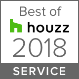 Best of Houzz 2018 logo service award for Landscape Designers.